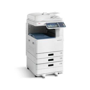 OKI ES9465MFP PFP: LED, színes/nyomtat/szkennel/másol, A4: 35 lap/perc (színes&mono), A6R-A3+ papírméret, 1200x600 dpi, duplex, 2 GB RAM, 160 GB HDD, hálózat, USB 2.0, 3*550 lap, 100 lapos kézi adagoló, 100 lapos RADF (duplex ADF), gépasztal, 22,9 cm