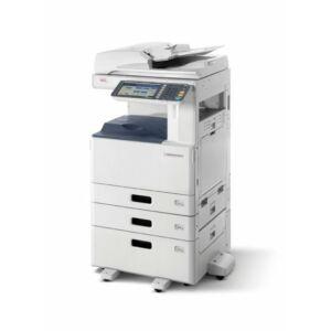 OKI ES9475MFP LCF: LED, színes/nyomtat/szkennel/másol, A4: 50 lap/perc (színes&mono), A6R-A3+ papírméret, 1200x600 dpi, duplex, 2 GB RAM, 160 GB HDD, hálózat, USB 2.0, 2*550+2000 lap, 100 lapos kézi adagoló, 100 lapos RADF (duplex ADF), gépasztal, 22,